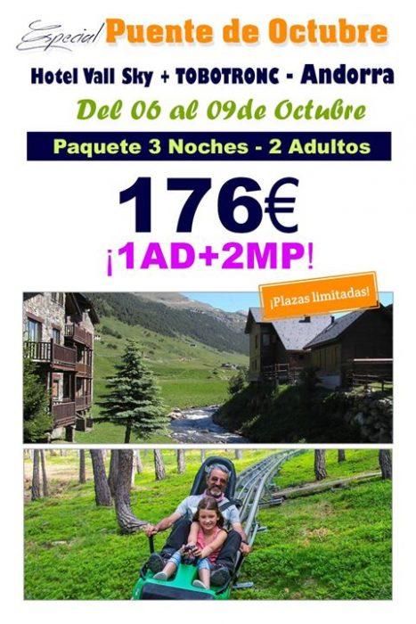 Oferta puente de octubre | Escapada Andorra + Tobotronic 176€