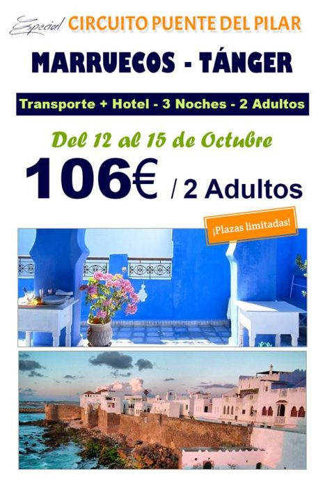 Oferta escapada puente de octubre Marruecos 3noches por 106€
