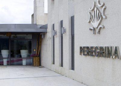 Fachada exterior del hotel Peregrina 3* de Sanxenxo