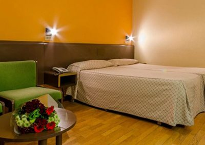 Habitación con dos camas individuales del hotel Sant Eloi 3*