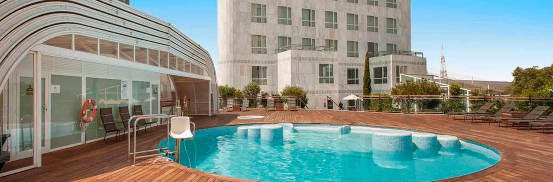 Piscina del hotel Sorolla Palace 4* de Valencia