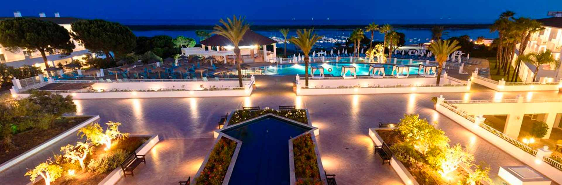 Vistas nocturnas desde el hotel Sentido Playa natural