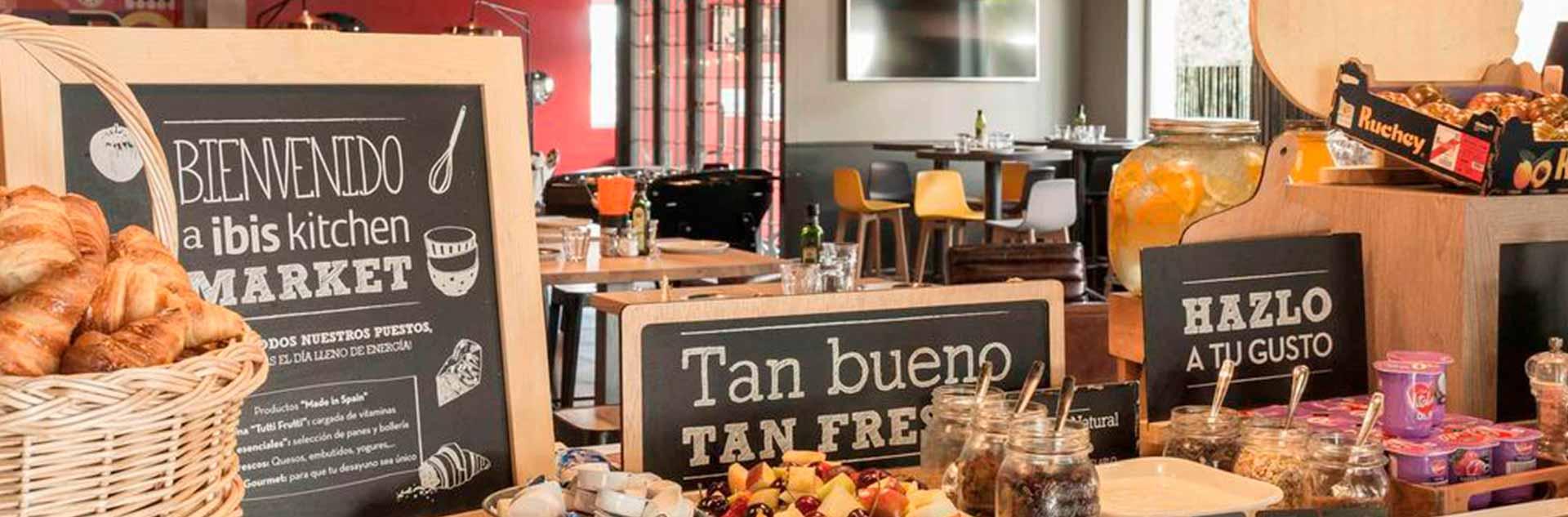 Buffet del hotel Ibis Madrid Fuenlabrada