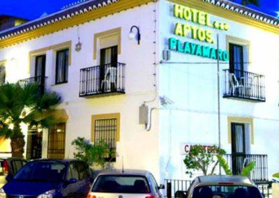 Fachada del hotel Playamaro de Málaga