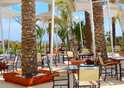 Terraza del hotel Valle del Este