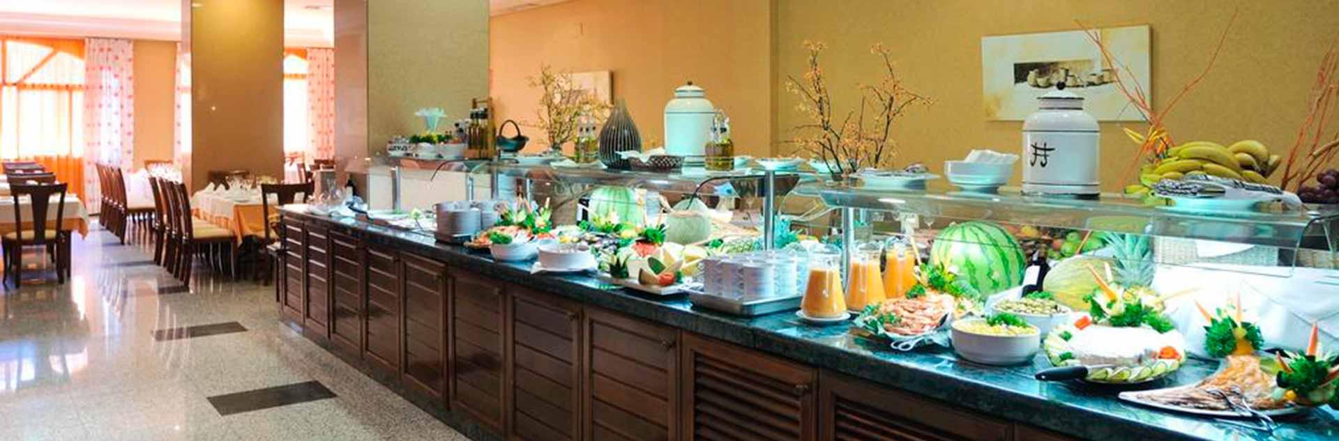Buffet libre del hotel Vistamar 4*