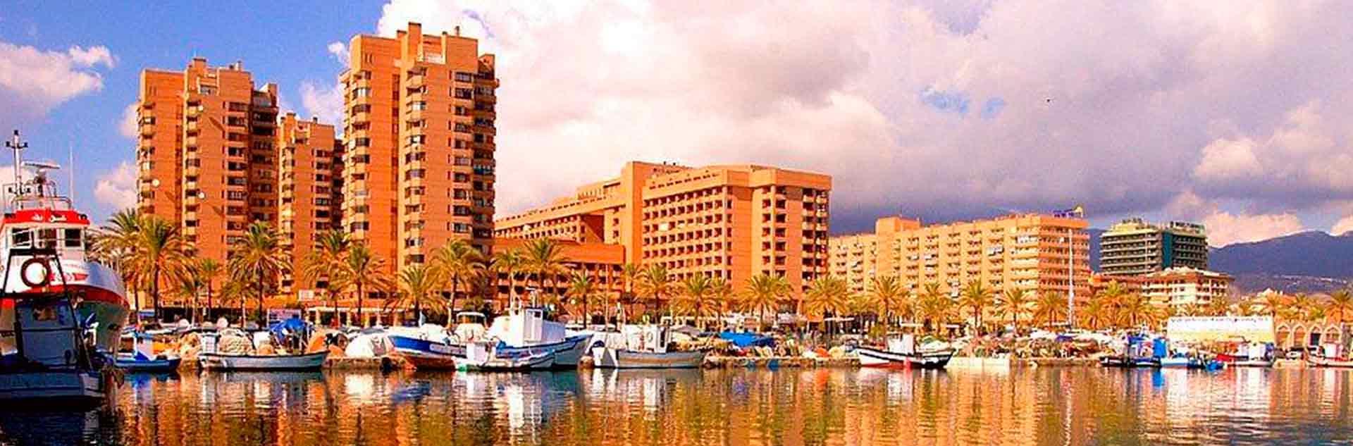 Hotel las Palmeras visto desde el puerto