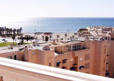 Vistas desde el balcon de una habitacion del Hotel Parasol Garden
