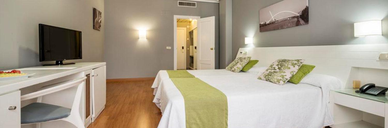 Habitacion doble del Hotel Ilunion Alcora Sevilla