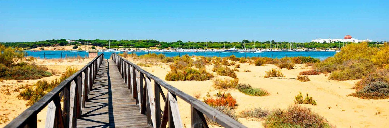 Paisaje de El Rompido en Huelva