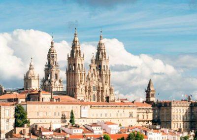 Panorámica de la ciudad de Santiago de Compostela