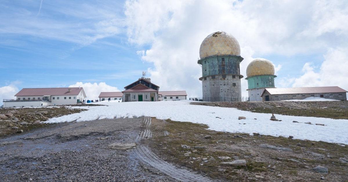 La Torre el Parque Natural Sierra la Estrella, el punto más alto de Portugal con nieve