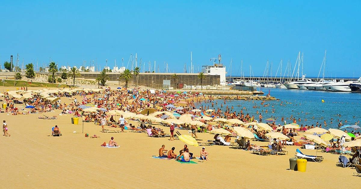 Playa de la Barceloneta - Somorrostro en la costa de Barcelona